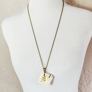 Ceramic Notebook Pendant Necklace